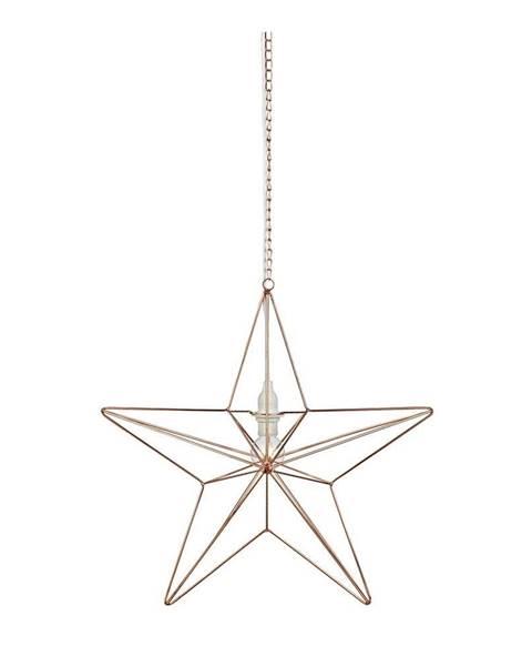Markslöjd Závesná svietiaca dekorácia v medenej farbe Markslöjd Tjusa Star Copper, ø 42cm