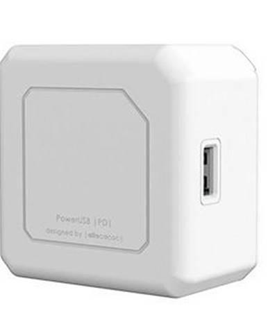 Nabíjačka do siete Powercube 2x USB, 2x USB-C PD 60W biela