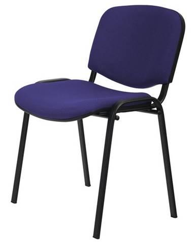 Konferenčná stolička ISO čierna/modrá