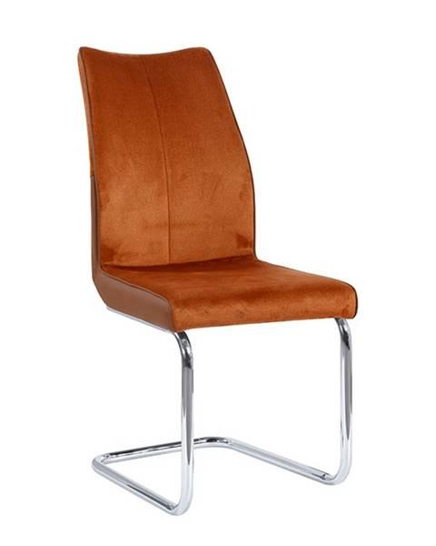 Tempo Kondela Jedálenská stolička tehlová/tehlová FARULA