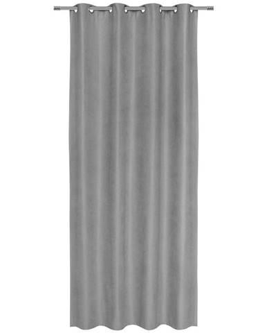 Záves S Krúžkami Nizza, 140/245cm, Sivá