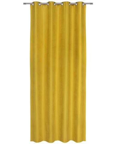 Záves S Krúžkami Nizza, 140/245cm, Žltá