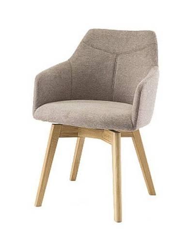Jedálenská stolička JACKSON cappuccino/dub
