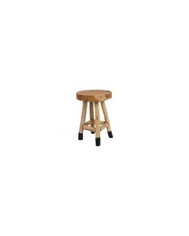 Stolička z teakového dreva White Label Harry