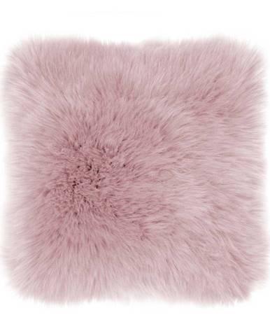 Ružový vankúš Tiseco Home Studio Sheepskin, 45 × 45 cm