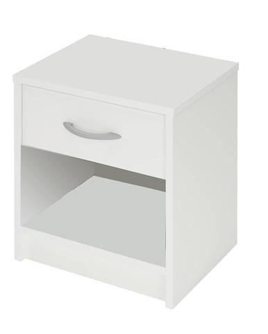 Nočný stolík biely