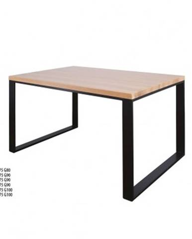 Drewmax Jedálenský stôl Metal ST373 / dub / doska 2