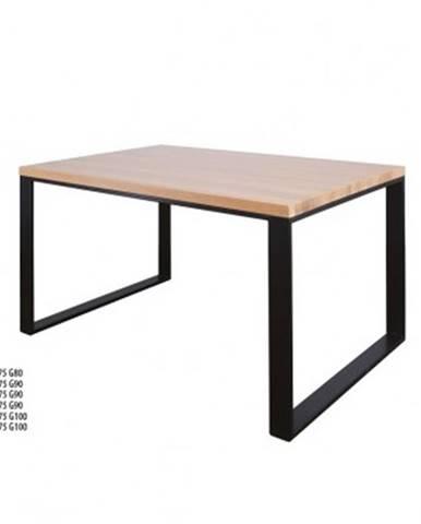Drewmax Jedálenský stôl Metal ST373 / dub / doska 4 cm