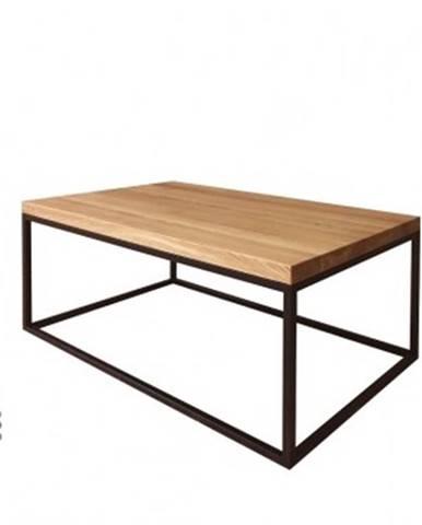 Drewmax Konferenčný stolík Metal ST375 / dub / doska 4 cm