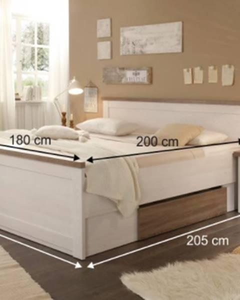 Tempo Kondela Tempo Kondela Manželská posteľ s nočnými stolíkmi Lumera