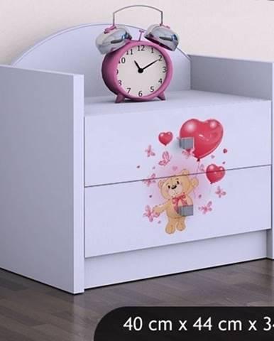 Happy Babies Nočný stolík HAPPY/ 08 Zamilovaný macko SZN01