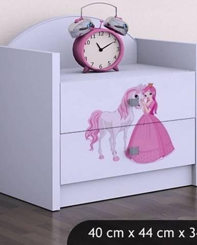 Happy Babies Nočný stolík HAPPY/ 09 Princezná s koníkom SZN01