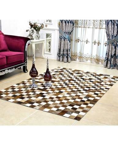 Tempo Kondela Luxusný kožený koberec