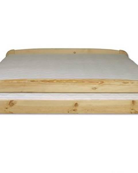 Drewmax Manželská posteľ - masív LK108 | 140cm borovica