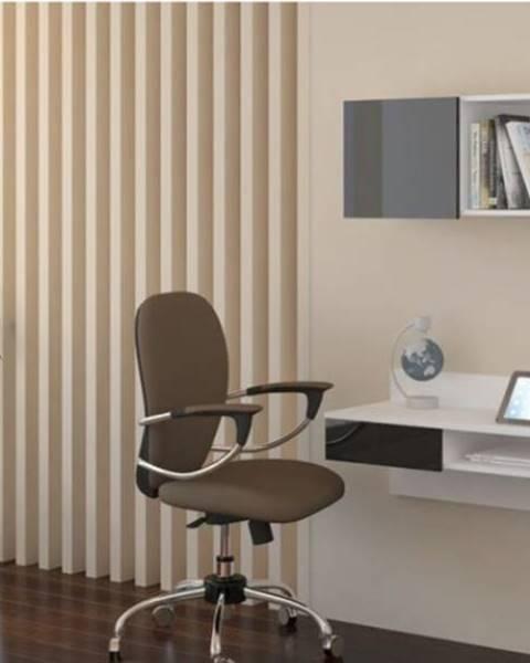 WIP WIP PC stolík visiaci Uno biely / čierny lesk Uno