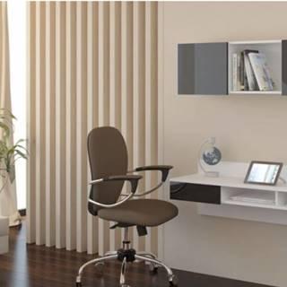 WIP PC stolík visiaci Uno biely / čierny lesk Uno