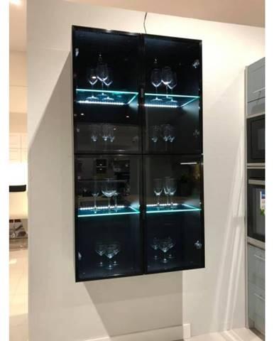 ArtExt Vrchná kuchynská skrinka Napoli W3S/60 BLACK ALU