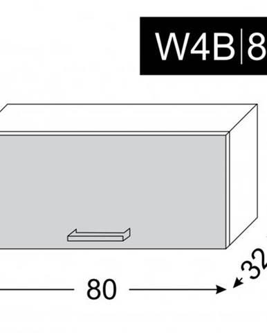 ArtExt Vrchná kuchynská skrinka Napoli W4B/80 AVENTOS POVRCHOVÁ ÚPRAVA DVIEROK