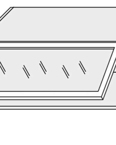 ArtExt Vrchná kuchynská skrinka Napoli W4BS/80 WKF AVENTOS POVRCHOVÁ ÚPRAVA DVIEROK