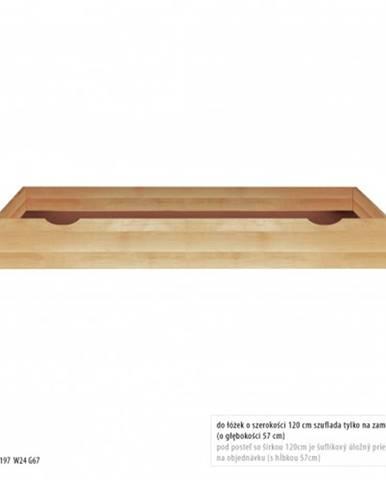 Drewmax Úložný box pod posteľ - masív LK172 / buk