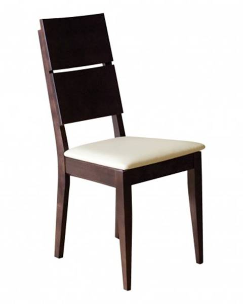 Drewmax Drewmax Jedálenská stolička - masív KT173 | buk / koža