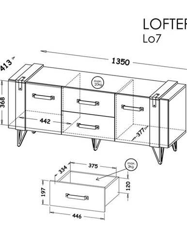 Dolmar RTV stolík Lofter LO7