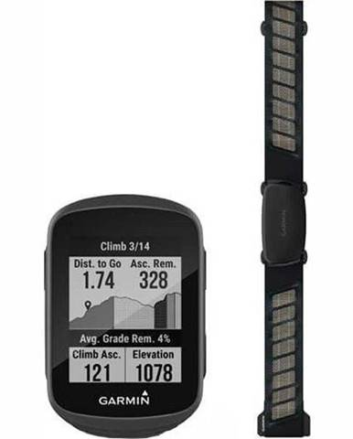 Cyklopočítač s GPS Garmin Edge 130 Plus HR Bundle čierna