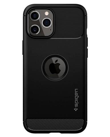 Kryt na mobil Spigen Rugged Armor na Apple iPhone 12/12 Pro čierny