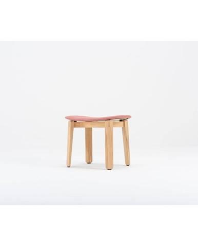 Červená podnožka z dubového dreva Gazzda Nora