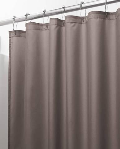 Hnedý sprchový záves iDesign, 200 x 180 cm