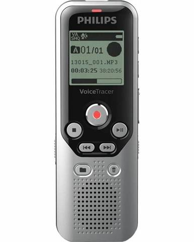 Diktafón Philips DVT1250 čierny/strieborn
