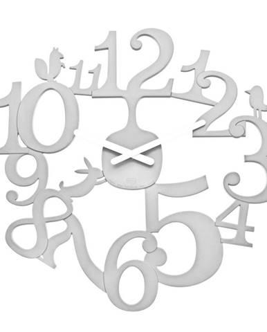 Koziol Nástenné hodiny PI:P biela, pr. 45 cm