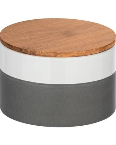 Keramický úložný box s bambusovým vekom Wenko Malta, 750 ml