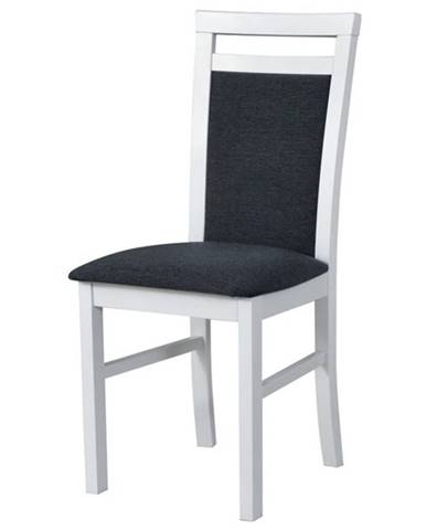 Jedálenská stolička MILAN 5 biela/tmavosivá