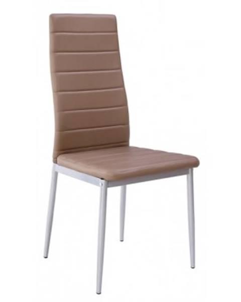 ASKO - NÁBYTOK Jedálenská stolička Zita, šedo-hnedá ekokoža%