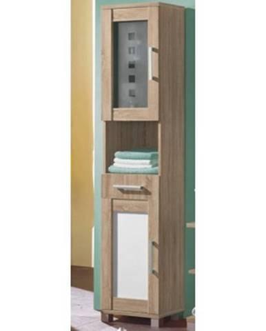 Kúpeľňová vysoká skrinka Poseidon, dub Sonoma%