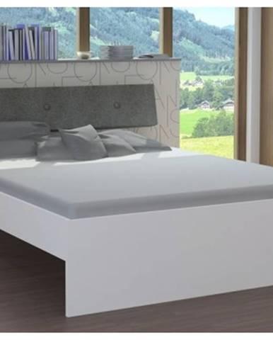 Posteľ Katrin 160x200 cm, biela%