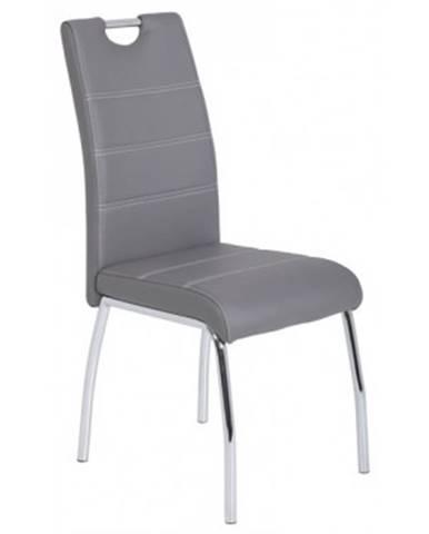 Jedálenská stolička Susi, šedá ekokoža%