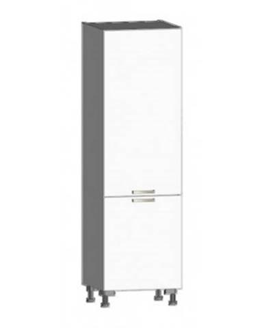 Kuchynská skriňa pre vstavanú chladničku One CHU, biely lesk, šírka 60 cm%