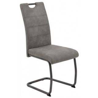 Jedálenská stolička Flora 4, šedá vintage látka%