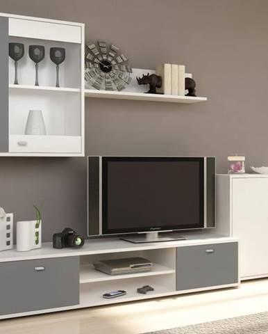 Obývacia stena biela/sivá GENTA