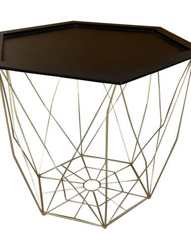 Príručný stolík čierna/zlatá BELOR