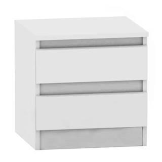 2 šuplíkový nočný stolík biela HANY NEW 002