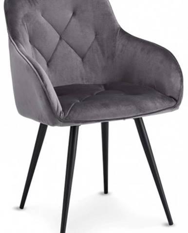 Jedálenská stolička Fergo sivá, čierna