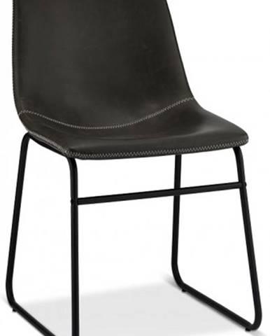 Jedálenská stolička Guaro sivá, čierna