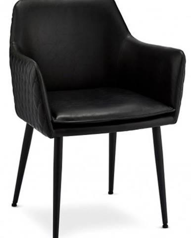 Jedálenská stolička Monda čierna