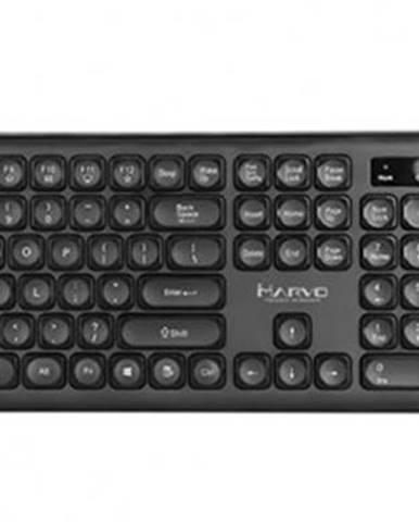 Set Marvo DCM003WE BK, klávesnica+bezdrôtová myš, US, čierna