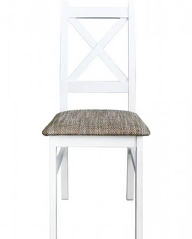 Jedálenská stolička Kasper biela, sivá