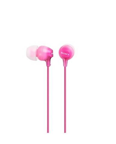 Slúchadlá do uší Sony MDR-EX15AP, ružové