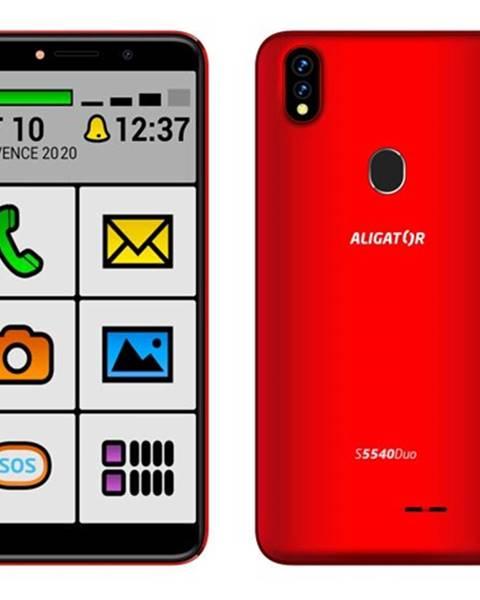 Aligator Mobilný telefón Aligator S5540KS 2GB/32GB, Kids+Senior, červená